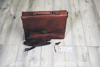 Hidesign Leather Briefcase Keylock Padded Handle