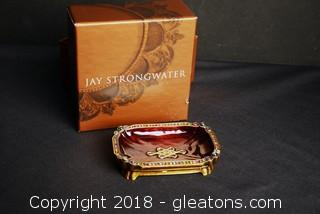 Authentic Jay Strongwater Collectible Jeweled Dish