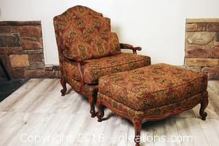 Large Seat Pennsylvania House Chair And Ottoman