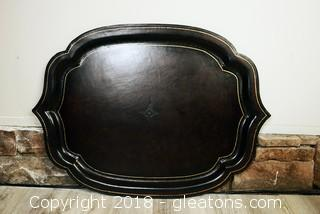 Large Platter great for ottoman