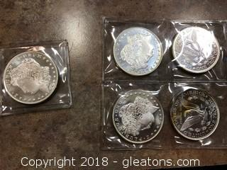 Set of Silver Coing Troy Ounce
