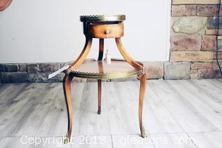 Vintage Two Tier Accent Table