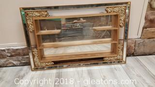 Vintage Mirror Trinket/Shelf Wall Hanger