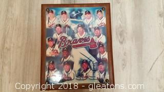 "Wooden Collectible ""Braves"" Cigar Box"