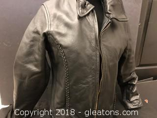 Medium Hot Leathers Leather Ricling Jacket