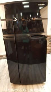 Black Kitchen Aid Refrig. Top Freezer