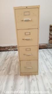 (4) Drawer Metal File Cabinet