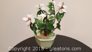 Oriental Glass Decorative Flower Planter