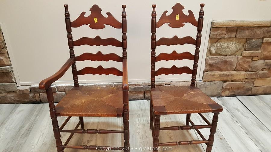 Gleaton S Metro Atlanta Auction Company Estate Sale Business Marketplace Auction Huge Peachtree City Estate Sale With Antiques Appliances Nice Furniture Item Set Of 2 Oak Ladder Back Vintage Farmhouse