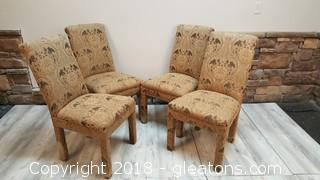 Set Of (4) Covered Stretch Dining Chairs