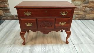 American Drew Side Buffet Table/Shell Detail Brass Hardware (4) Drawers Solid Wood