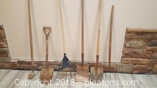 Lot Of Yard Tools (6) Pieces