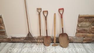 Set Of (5) Yard Tools