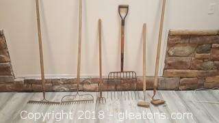 (5) Pieces Of Yard Tools