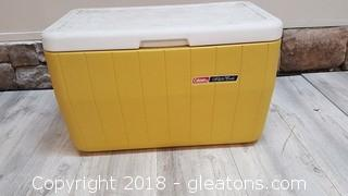 "Large Yellow Coleman ""Polylite"" Cooler"