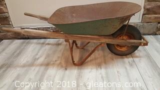 Large Vintage Wheel Barrel