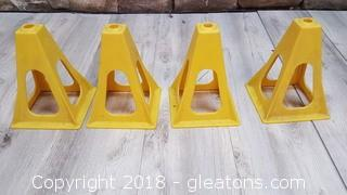 Set Of (4) Jack Cones Yellow