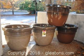 Set Of Four Large Planters