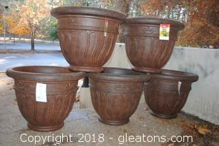 Set Of 5 Large Planters