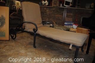 Wroght Iron Lounge Chair Very Nice LOT A