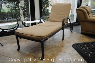 Wroght Iron Lounge Chair Very Nice LOT B