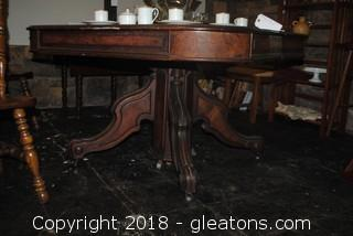 Antique Square Dining Table