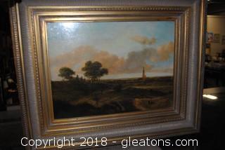 Original Landscape Oil On Wood