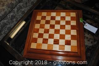 Solid Wood Top Checker Board Felt Bottom