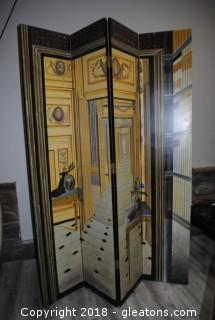 Tall Hand Painted Room Divider