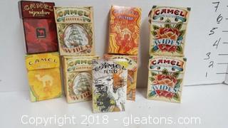 Vintage Empty Camel Cigarette Boxes