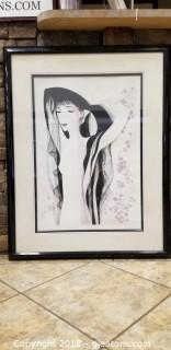 "Signed ""Girl With Raven Hair"" By Eyvind Earle"