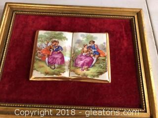 Framed Fragonard Ceramic