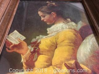 Reading Lady Print
