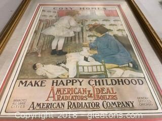 Vintage Advertise Frame