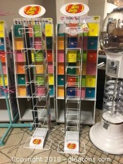 Pair Jelly Belly Rack Displays