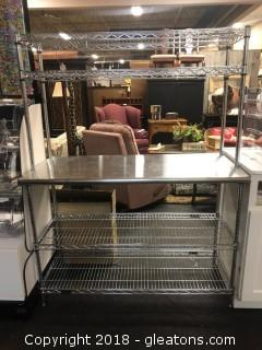 Commercial Grade Stainless Steel Work Station