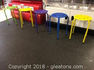 Set of Five Norwood Children's Chairs