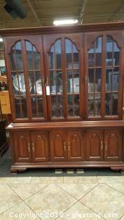 Vintage (2) Piece China Cabinet