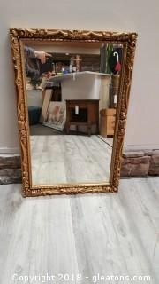 Nice Gold Mirror With Very Ornate Design