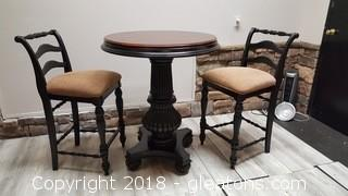 Very Nice Table Solid Wood W/2 Chairs