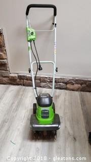 Green Works Barely Used Small Tiller 8 Arms Corded