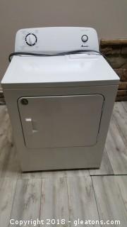 Slightly Used Amana Dryer White