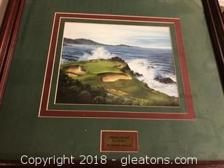 Framed Wall Photo Of Pebble Beach 7th Hole By: Crystal Skelley