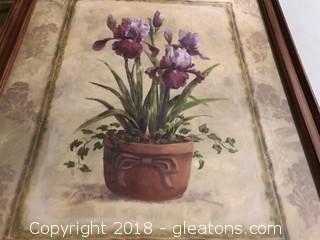 Large Vase Framed Print By V.Flasch
