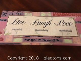 Live, Laugh, Love House Canvas Decor