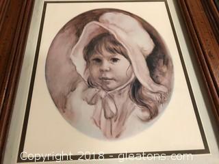 Baby Portrait Framed