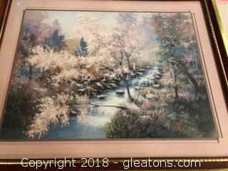 Oil Pastel Framed Piece