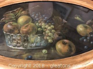 Oval Shaped Framed Fruit Print