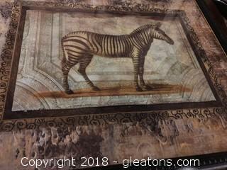 Zebra Print Framed