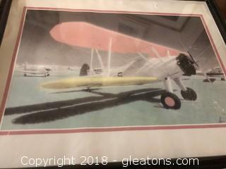 Signed Plane Framed Art